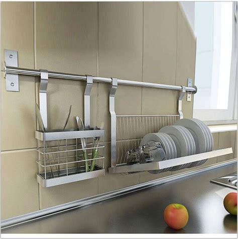 stainless steel kitchen storage shelves knivedrill platedish rack hangerhc dicas de