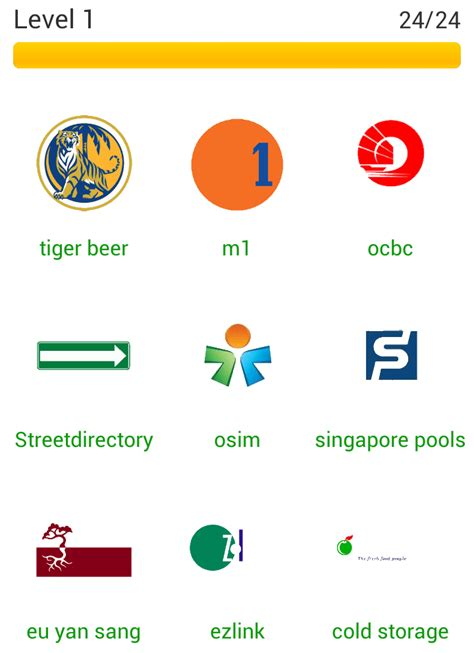 Answers App by App Answers Logo Quiz Sg Answers Level 1