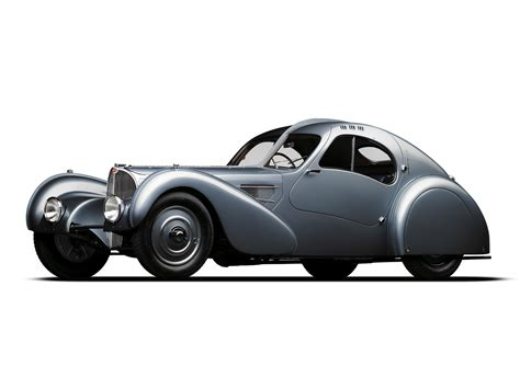 The first prototype is gone and only two of three aluminum bodied. 1936 Bugatti Type 57SC Atlantic Coupe supercar retro r ...