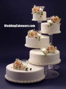 wedding cake plates wedding cake stands plates 5 tier cascade wedding cake stand stands set wedho
