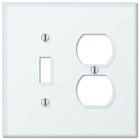 2 toggle 1 rocker switch plate hton bay acrylic glass 1 toggle 1 rocker wall plate 8970