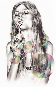 Illustrations by Marynn | The bubble, Black and white ...