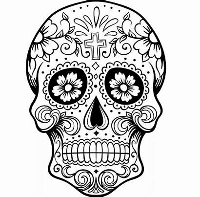 Skull Coloring Pages Sugar Scary Adults Forget