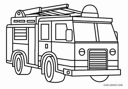 Coloring Fire Truck Printable Pages