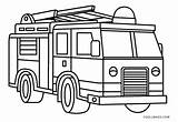 Coloring Fire Truck Printable Pages sketch template
