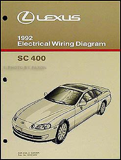 download car manuals pdf free 1992 lexus sc instrument cluster 1992 lexus sc 400 electrical wiring diagram manual original sc400 shop schematic ebay