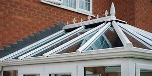 Small White Edwardian UPVC Conservatory With Glass Roof By