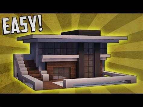 minecraft   build  small modern house tutorial  youtube modern minecraft houses