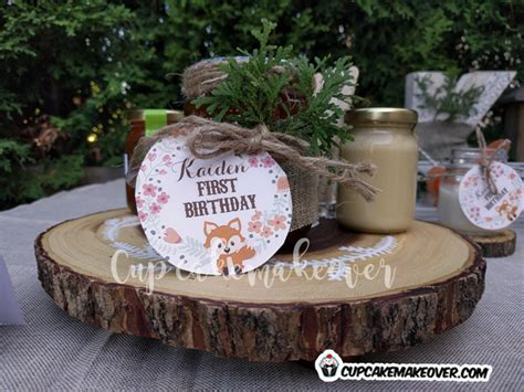 kaidens woodland themed birthday party cupcakemakeover