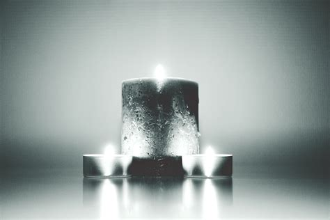 grayscale photo  candle  stock photo