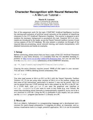Artificial Neural Networks Matlab Tutorial - Fill Online