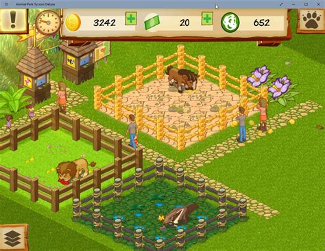 animal park zoo building own game create tycoon deluxe animals simulation compounds roads facilities buying
