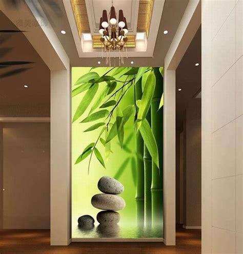luxury embossed nature  murals wallpaper  tv