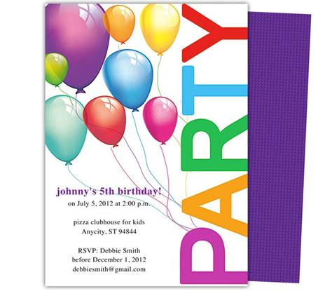 kids party templates balloons kids birthday party