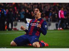 Barcelona 21 Real Madrid Luis Suarez scores El Clasico