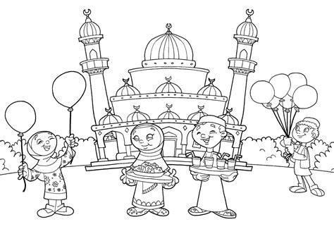 Sketsa gambar dengan objek gambar tertentu merupakan langkah awal untuk membuat. Sketsa Gambar Mewarnai Mesjid Untuk Anak TK PAUD Terbaru ...