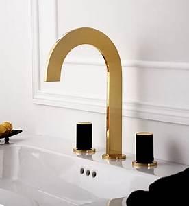 robinetterie de salle de bain doree de luxe photo 5 10 With robinetterie salle de bain design