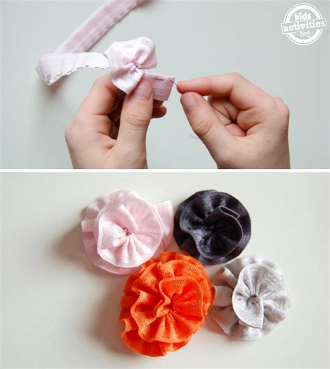 how to make a ribbon how to make ribbon flowers