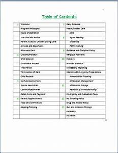 family childcare basic parent handbook template by miss With teacher handbook template