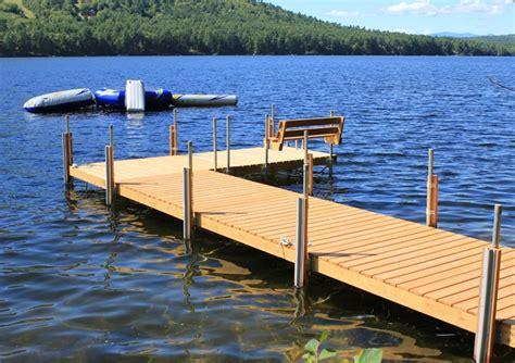 stationary wood docks boat docks