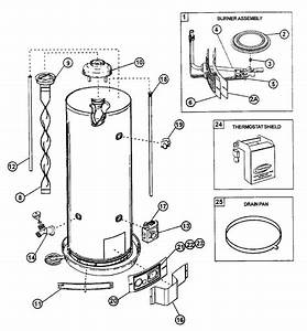 Ao Smith Fcv40 Gas Water Heater Parts