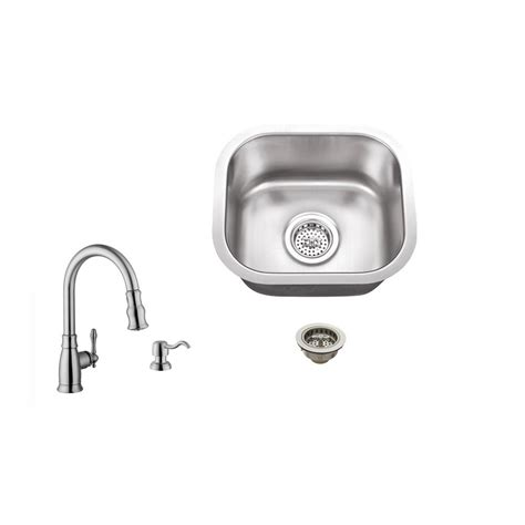 Ipt Stainless Steel Sinks by Ipt Sink Company Undermount 15 In 18 Stainless