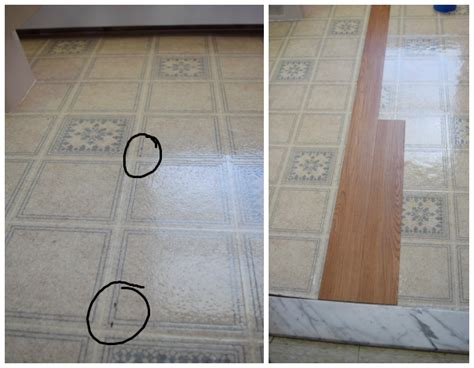 install peel and stick vinyl floor planks in the bathroom