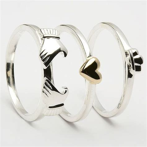 Friendship Rings For 3 3 Piece Claddagh Ring Accessories Pinterest Rings