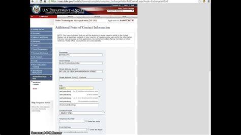 ds 160 application form u s j 1 visa part 3 youtube