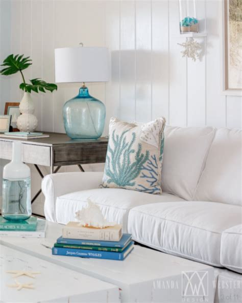 Breezy Blue Florida Cottage by Breezy Condo Living Room Cottage Style