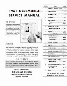 1961 Oldsmobile Service Manual - 88  S-88  98