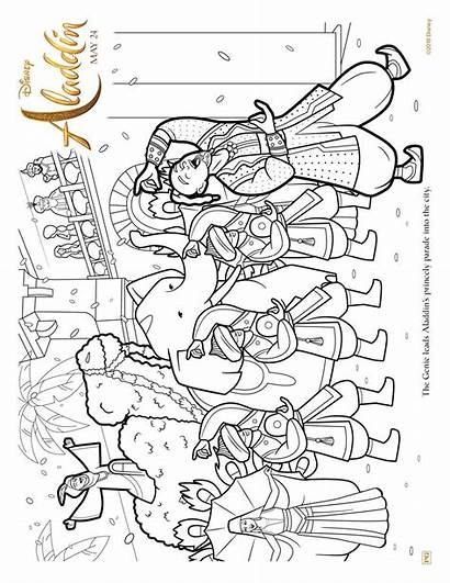 Aladdin Coloring Activity Pages Sheets Disney Printable