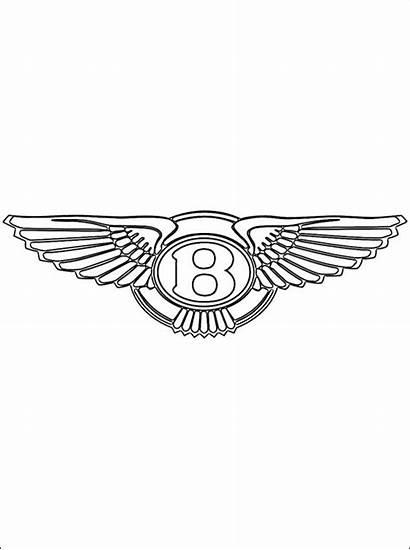 Bentley Coloring Pages Printable Logos Cars Emblem