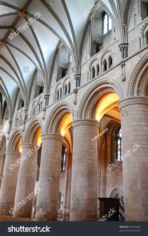 interior   famous gloucester cathedral england