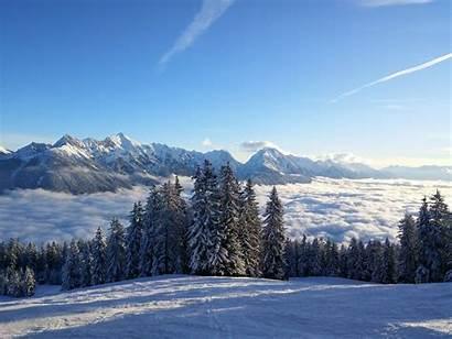 Tyrol Neige Winter Snow Austria Fond Paysage