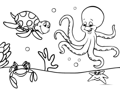 Download Amazing Printable Ocean Coloring Pages For Free