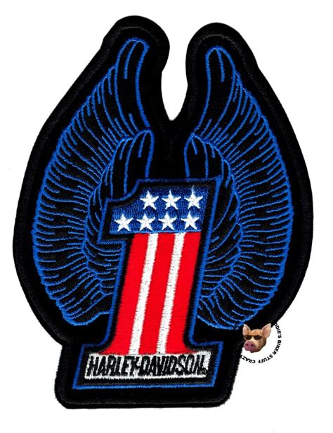 harley davidson patches harley davidson medium usa number one patch with wings vest jacket patch ebay
