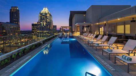 westin austin downtowns fancy rooftop pool bar   open  public eater austin