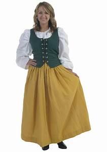 Yellow Peasant Costume Skirt - Medieval Renaissance Clothing