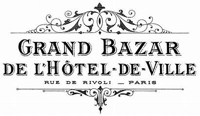 French Transfer Graphics Grand Bazar Printable Typography