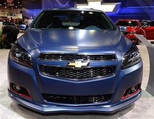 The front end of the 2013 Chevrolet Malibu Performance