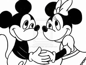 Mickey Mouse And Minnie Mouse Drawings - AZ Coloring Pages
