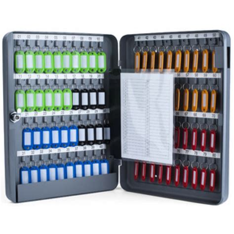 bureau acier et verre boîte à clés armoire murale pour 80 clés pavo az