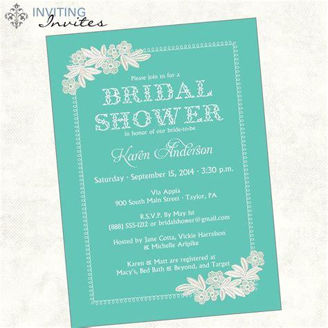 Kitchen Tea Party Invitation Ideas - bridal shower invite bridal shower invite wording card invitation templates card
