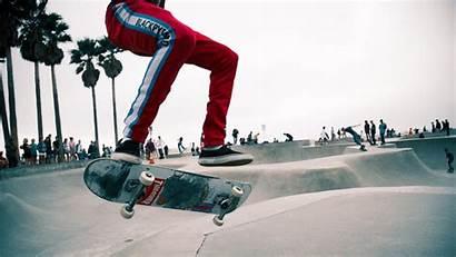 Skate Skater Jump Background 4k Park Trendy