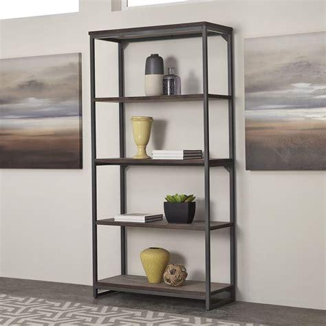 Bookcase Styles home styles barnside metro gray open bookcase 5053 76