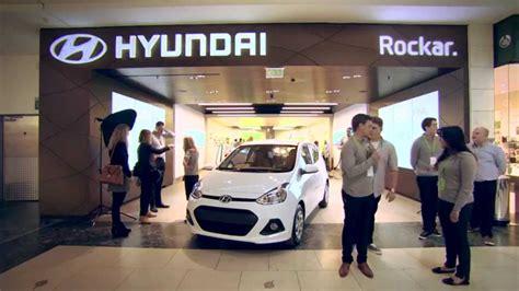 Hyundai Car Dealer by Rockar And Hyundai Open Groundbreaking Digital Car