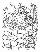 Coloring Garden Pages Spring Gardening Drawing Rose Kid Printable Flower Preschool Getdrawings Getcolorings Easily sketch template