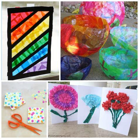 beautiful tissue paper crafts  kids
