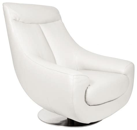 lori swivel armchair in white leather modern armchairs